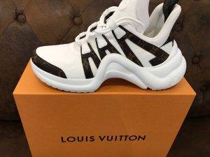Louis Vuitton Basket à lacet blanc-brun cuir