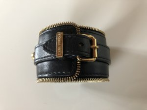 LOUIS VUITTON Armband Cuff Manschette Leder schwarz