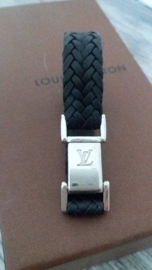 Louis Vuitton Armband, schwarz-silber
