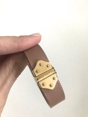 Louis Vuitton Armband stoffig roze-goud Leer