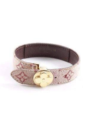 Louis Vuitton Armband wit-donkerrood elegant