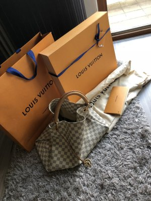 Louis Vuitton Shopper gris clair-blanc