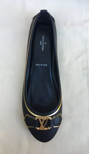 Louis Vuitton Ballerines noir-brun sable cuir