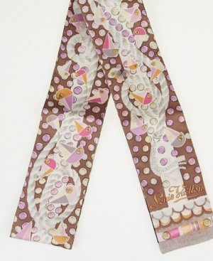 Louis Vuitton Bandeau NEU Grenad Rose Escale Silk Full Set