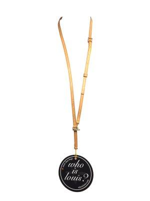 Louis Vuitton Banouliere Telefone Schlüsselband Anhänger Halskette VVN Leder