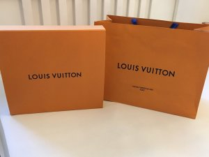 Louis Vuitton Borsa da shopping arancione-blu