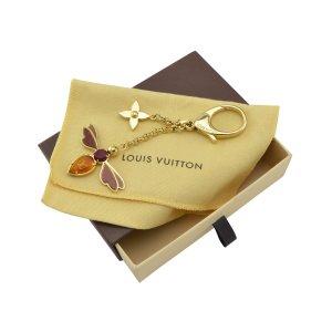 Louis Vuitton Portachiavi oro-bordeaux Metallo