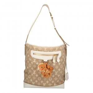 Louis Vuitton Besace Monogram Sabbia Canvas Tasche Handtasche in Blanc