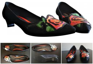 Louis Vuitton Black Suede Stephen Sprouse Graffiti Rose Low Heels Flats  iLimited Edition Gr.36,5