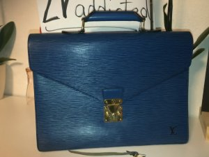 Louis Vuitton Briefcase neon blue-blue leather
