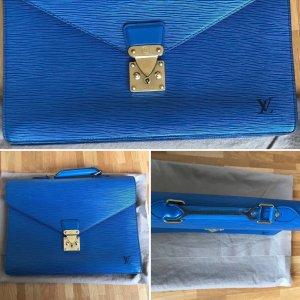 Louis Vuitton Valigetta blu neon-blu Pelle