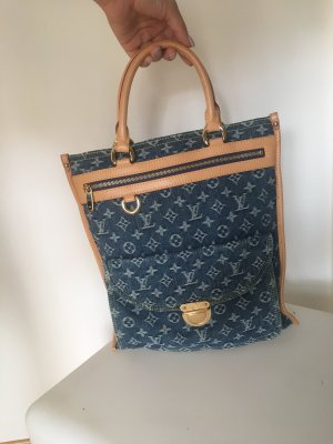 Louis Vuitton Blue Monogram Denim Sac Plat Bag