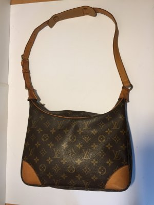 Louis Vuitton Handbag cognac-coloured-black brown