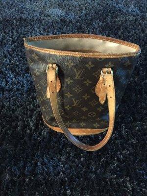 Louis Vuitton Sac porté épaule brun foncé-brun tissu mixte