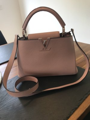 Louis Vuitton Minibolso color rosa dorado-color plata