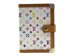 Louis Vuitton Portafogli bianco Fibra tessile