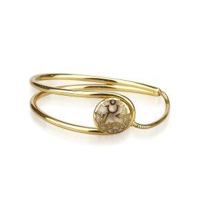 Louis Vuitton Bracelet doré métal