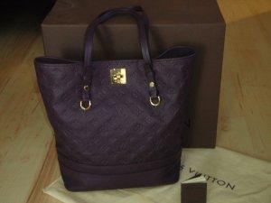 Louis Vuitton Draagtas bruin-paars-goud Leer