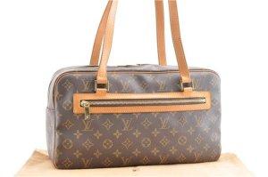 Louis Vuitton Shoulder Bag brown textile fiber