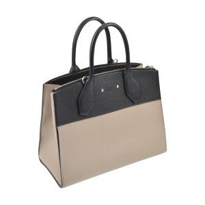 Louis Vuitton Shoulder Bag black-oatmeal leather
