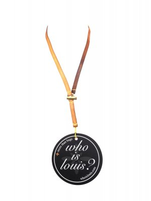 Louis Vuitton Key Chain brown-gold-colored leather
