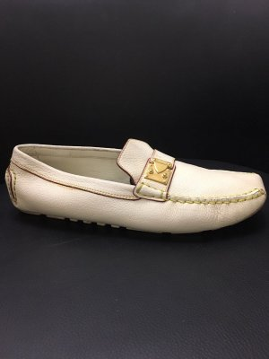 Louis Vuitton Mocasines crema-beige