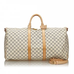 Louis Vuitton Damier Azur Keepall Bandouliere 55