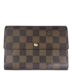 Louis Vuitton Damier Ebene Canvas Geldbörse Geldtasche Portemonnaie
