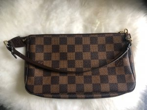 Louis Vuitton Damier Ebene Canvas Pochette Clutch Tasche Top