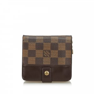 Louis Vuitton Damier Ebene Compact Zip Wallet