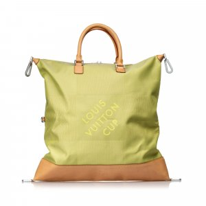 Louis Vuitton Borsa da viaggio verde pallido Nylon