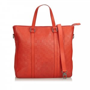 Louis Vuitton Satchel red leather