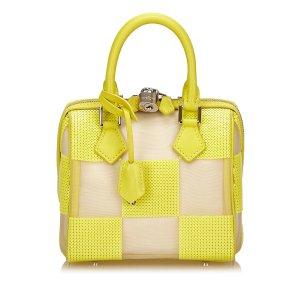 Louis Vuitton Sac à main jaune cuir