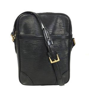 Louis Vuitton Sac bandoulière noir-doré cuir