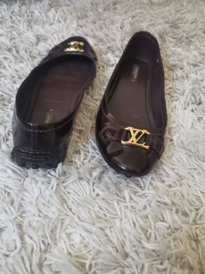 Louis Vuitton Patent Leather Ballerinas blackberry-red-purple