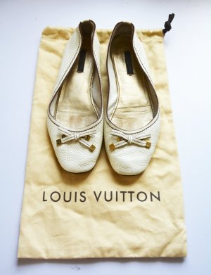 Louis Vuitton Ballerines Mary Jane beige clair cuir