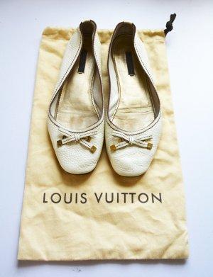 Louis Vuitton Debbie Ballerinas flats Leder creme gold 38,5