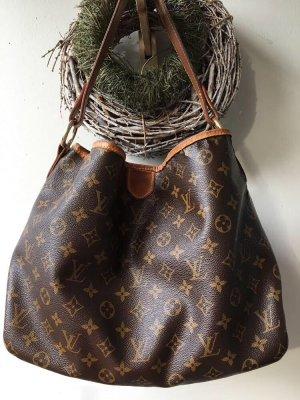 Louis Vuitton Sac porté épaule brun foncé-marron clair