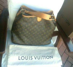 Louis Vuitton Comprador marrón-marrón arena tejido mezclado