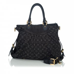 Louis Vuitton Satchel black cotton