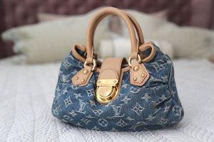 Louis Vuitton Bolso gris claro-azul celeste