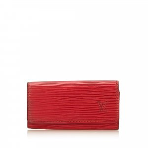 Louis Vuitton Key Case red leather