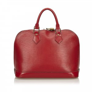 Louis Vuitton Sac à main rouge cuir
