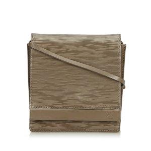 Louis Vuitton Bolsa de hombro verde Cuero