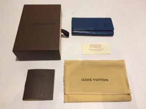 Louis Vuitton Epi blau Schlüsseletui