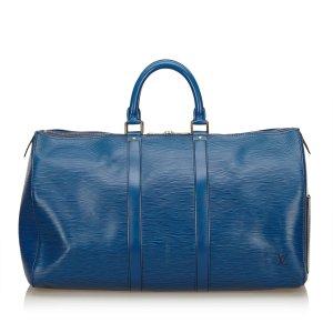 Louis Vuitton Sac de voyage bleu cuir