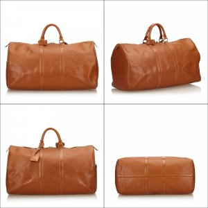Louis Vuitton Borsa da viaggio marrone Pelle