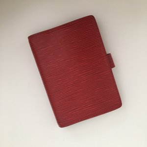 Louis Vuitton Epi Leder Agenda Fonctionel/ Planer in rot