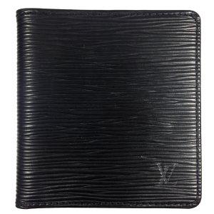 Louis Vuitton Epi Leder Kouril Schwarz Geldbörse Geldtasche Portemonnaie
