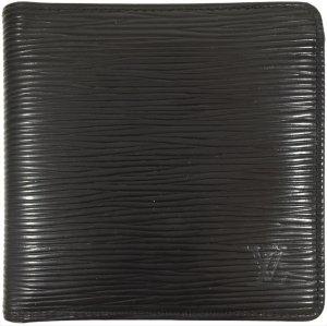 Louis Vuitton Epi Leder Schwarz Geldbörse Geldtasche Portemonnaie